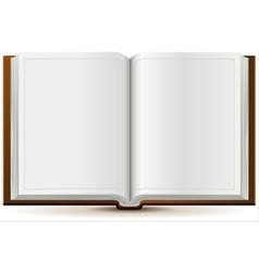 An open book in hardcover vector