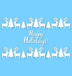 Angel deer fir-tree new year s decorations vector