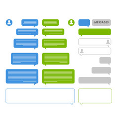 app bubbles chat client speech bubbles frames for vector image