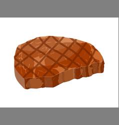 Beef tenderloin slice of steak cooked meat vector