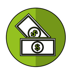 Bill money isolated icon vector