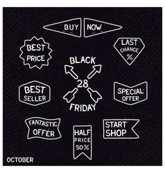 Black friday vintage signs vector image