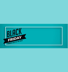 blue banner for black friday sale with text space vector image