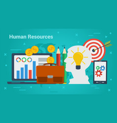 Business banner - human resources vector