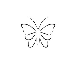 butterfly line art logo icon design template vector image