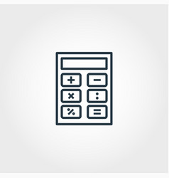 calculator icon from measurement icons collection vector image