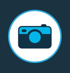 Camera icon colored symbol premium quality vector