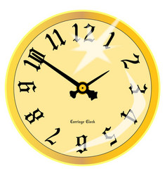 Carriage clock face vector