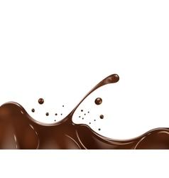 Chocolate splash on white background vector image