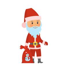 christmas holidays character santa claus closeup vector image