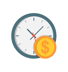 clock with coin icon vector image