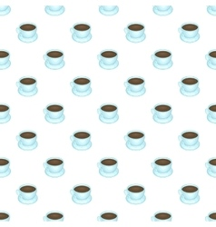 Coffee cup pattern cartoon style vector