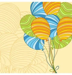 colored hand drawn balloons vector image