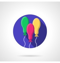 Colored oval balloons round flat icon vector image