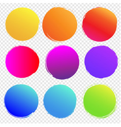 colorful blobs big set isolated transparent vector image