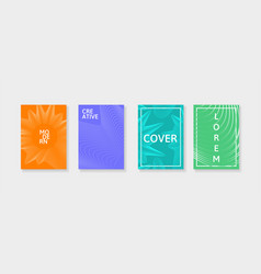 covers with geometric lines applicable for vector image