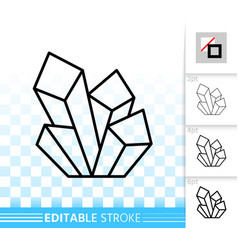 Crystal simple black line icon vector
