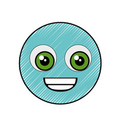 cute cartoon face vector image