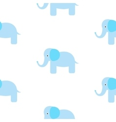 Cute elephant seamless pattern vector image