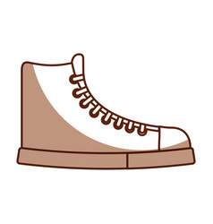 Cute shadow boot cartoon vector