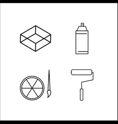 design and studio simple linear icon setsimple vector image