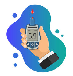 Diabetes concept with blood glucose meter vector