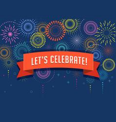 Fireworks and celebration background vector