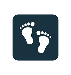footprints icon Rounded squares button vector image