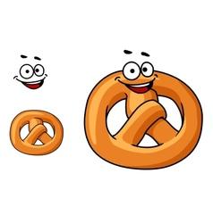 Funny crispy pretzel vector