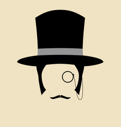 gentleman wearing vintage hat vector image