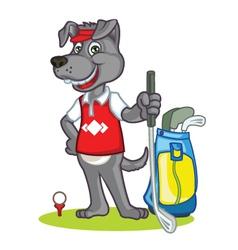 Golf Dog Cartoon vector