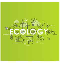 green energy ecology lifestyle recycle icons vector image