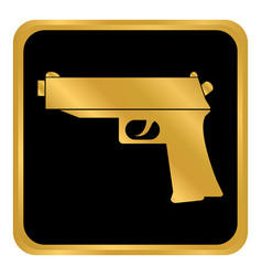 gun button on white vector image