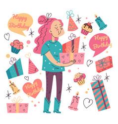 happy birthday design element party event vector image