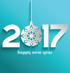 happy new year bauble background 1609 vector image