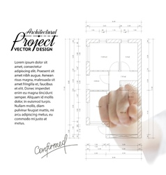 Human hand pointing architecture vector image