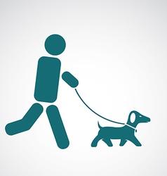 Image an walking dog vector