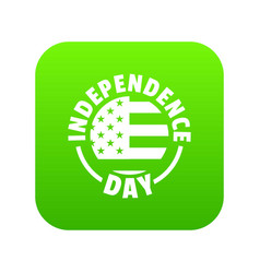 independence day icon green vector image