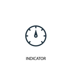 indicator icon simple element vector image