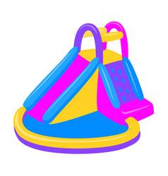 Inflatable slide iconcartoon icon vector