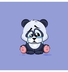 Isolated Emoji character cartoon sad vector