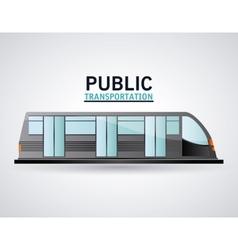 Isolated railways vehicle design vector image