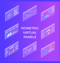 isometric virtual panels vector image