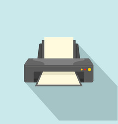 jet printer icon flat style vector image