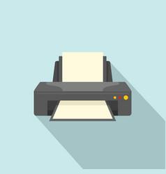 jet printer icon flat style vector image