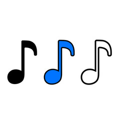 Melody icon vector
