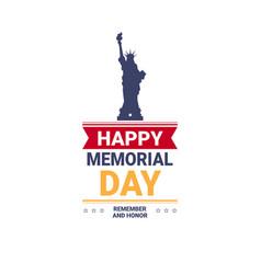 memorial day usa greeting card wallpaper the vector image