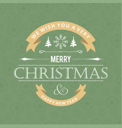 merry christmas card with stylish text and vector image