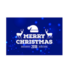merry christmas creative design with typography vector image