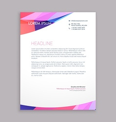 Multicolor letterhead design vector